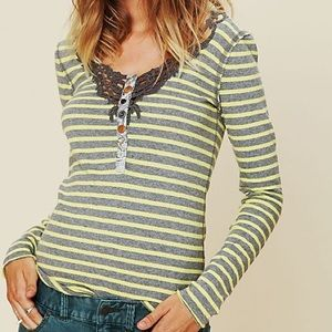 Free People Call Back Crocket Striped Henley